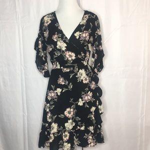 Gorgeous floral print wrap dress